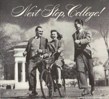 Vintage photograph college students 1940s